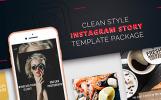 "Шаблон для соцсетей ""Clean Style Instagram Story Package"""