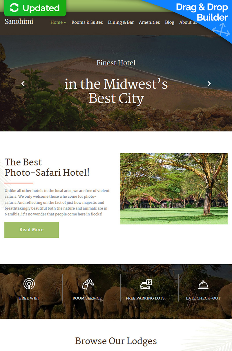 Sanohimi - Exotic Hotel Moto CMS 3 Template - screenshot