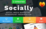 """Social Media Marketing Slides - Socially"" - PowerPoint шаблон"