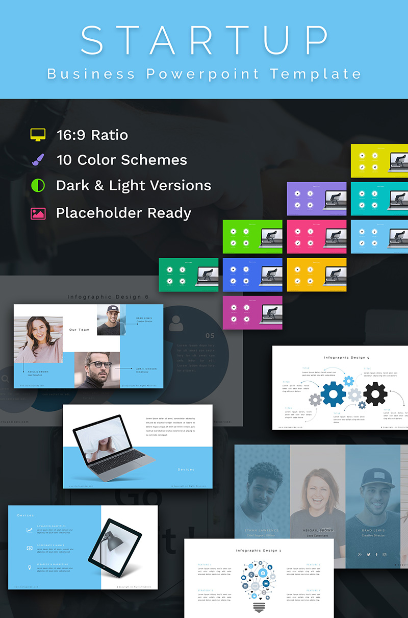 Startup Business PPT Slides PowerPoint Template