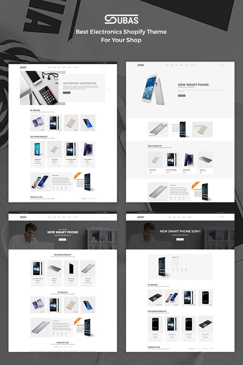 """Subas - Electronics store"" - адаптивний Shopify шаблон №68098 - скріншот"