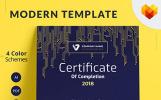 """Tema di certificato #68046 """"Certificate of Completion"""""""