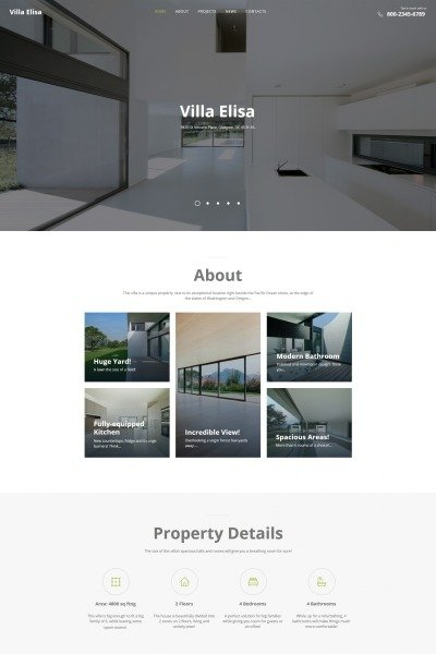 Real Estate Agency Moto CMS HTML Sablon