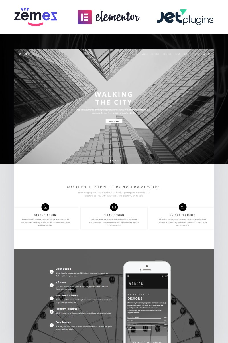 Webion - Minimal Elementor Multipurpose WordPress Theme - screenshot