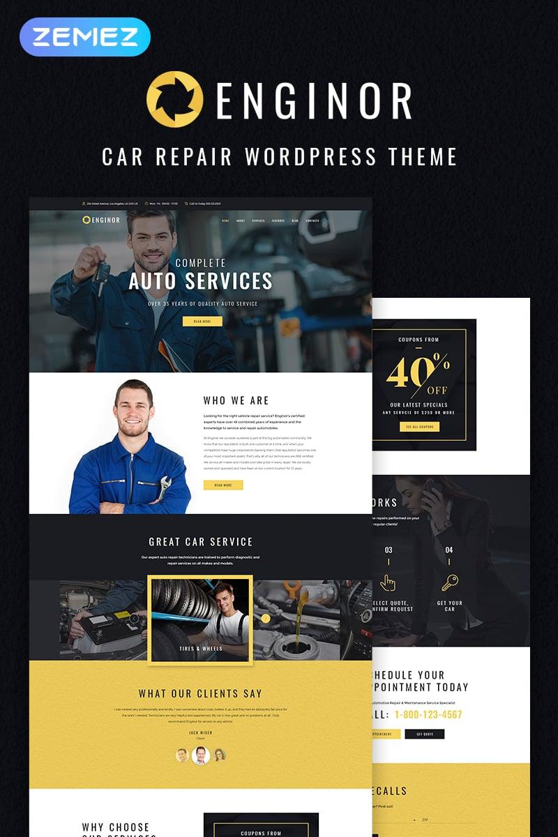 "WordPress Theme namens ""Enginor - Eye-catching Car Tuning Service"" #68086"