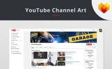 YouTube Channel Art for Auto Shop Social Media
