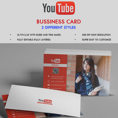 Youtube channel business card corporate identity template 68081 1 item added to cart reheart Image collections