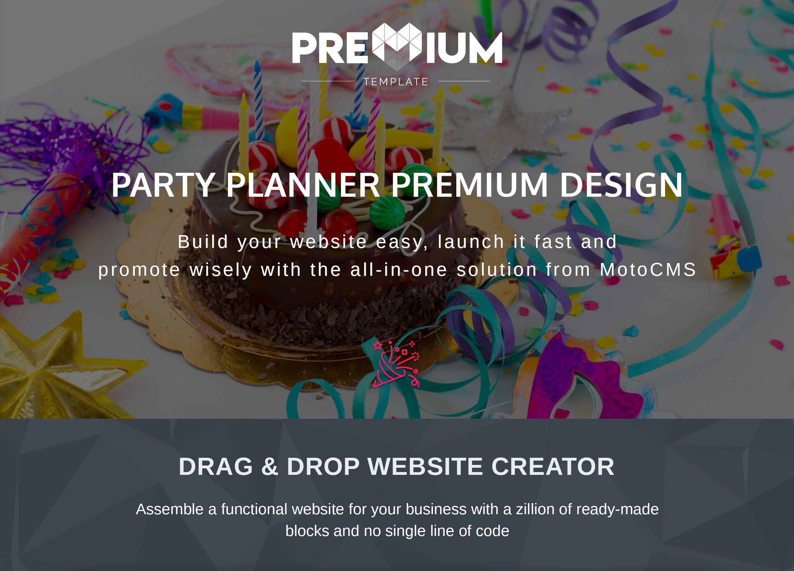 Joy Creators - Event Planner Moto CMS 3 Template