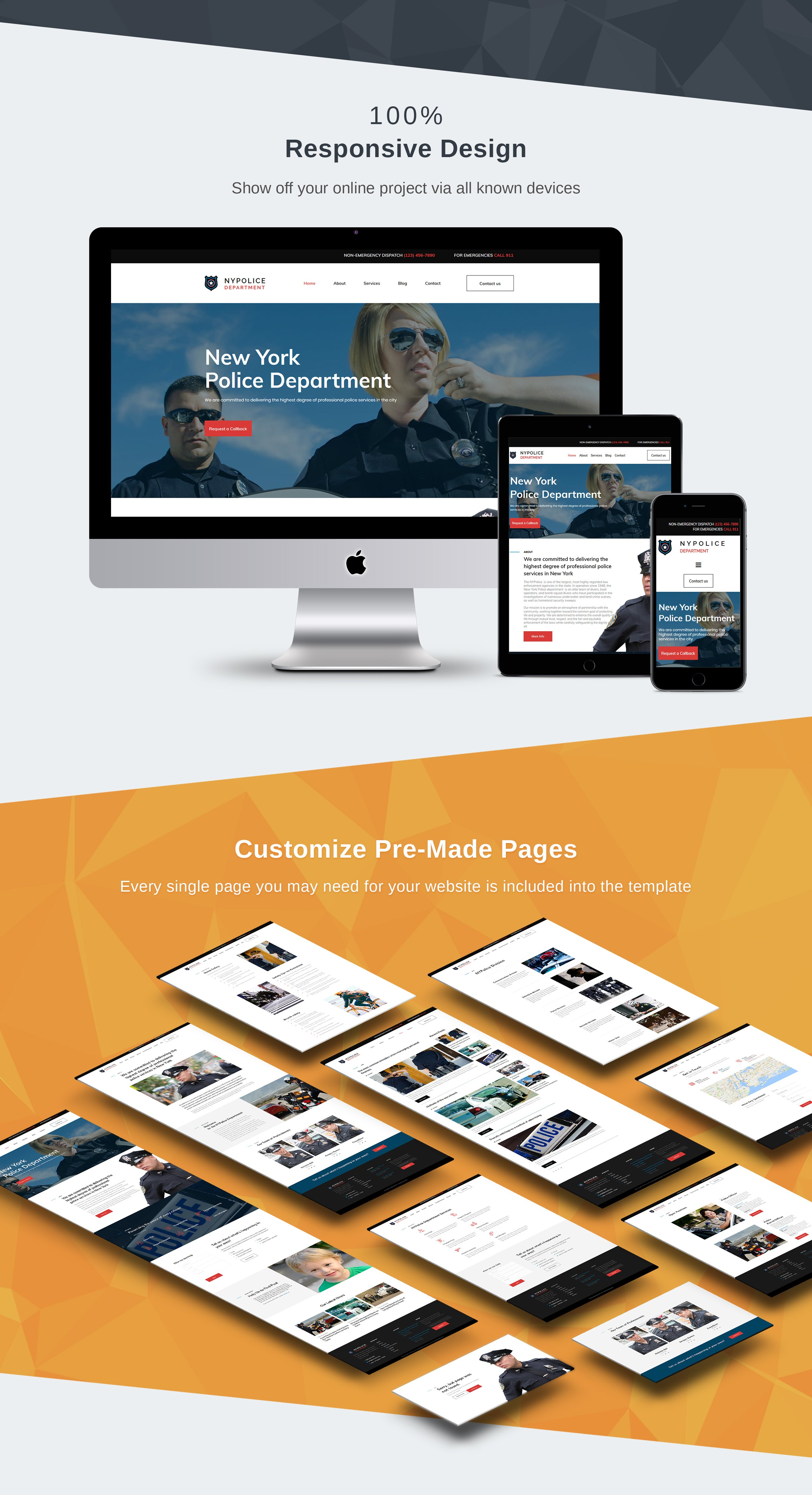 Police Department Premium Moto CMS 3 Template
