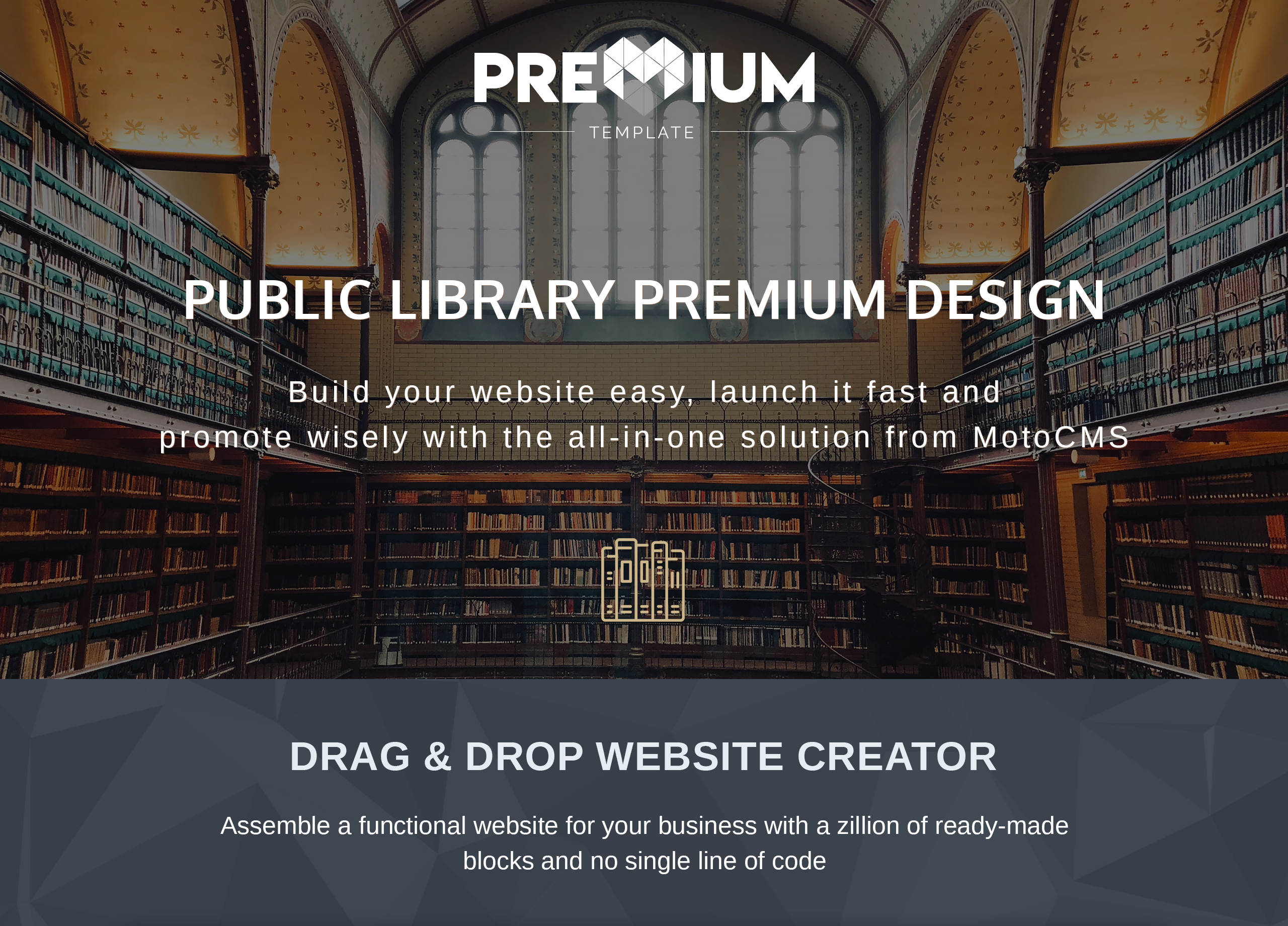 Public Library Premium Moto CMS 3 Template