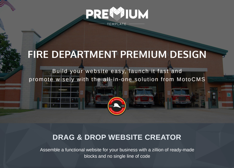 Fire Department Website Template For Brigades And Firefighters 68195 Image 2