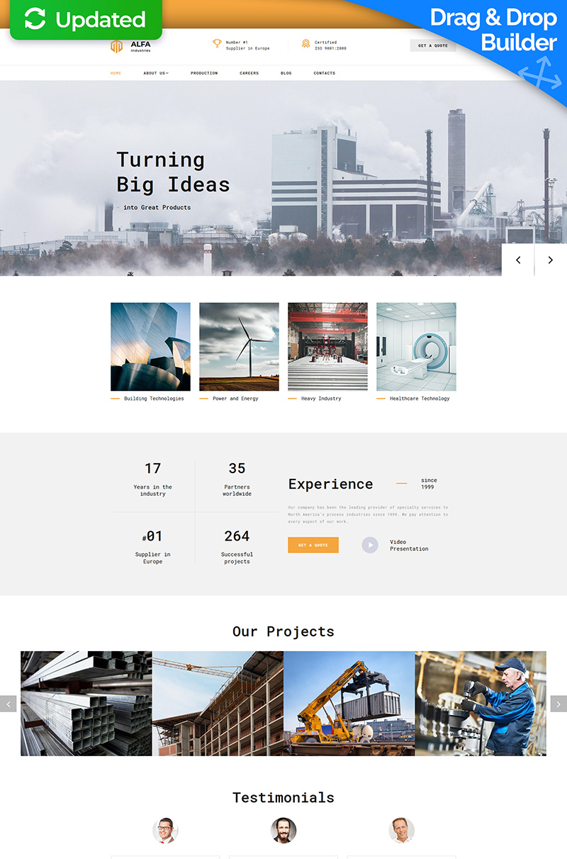 Alfa Industries - Heavy Industries Moto CMS 3 Template