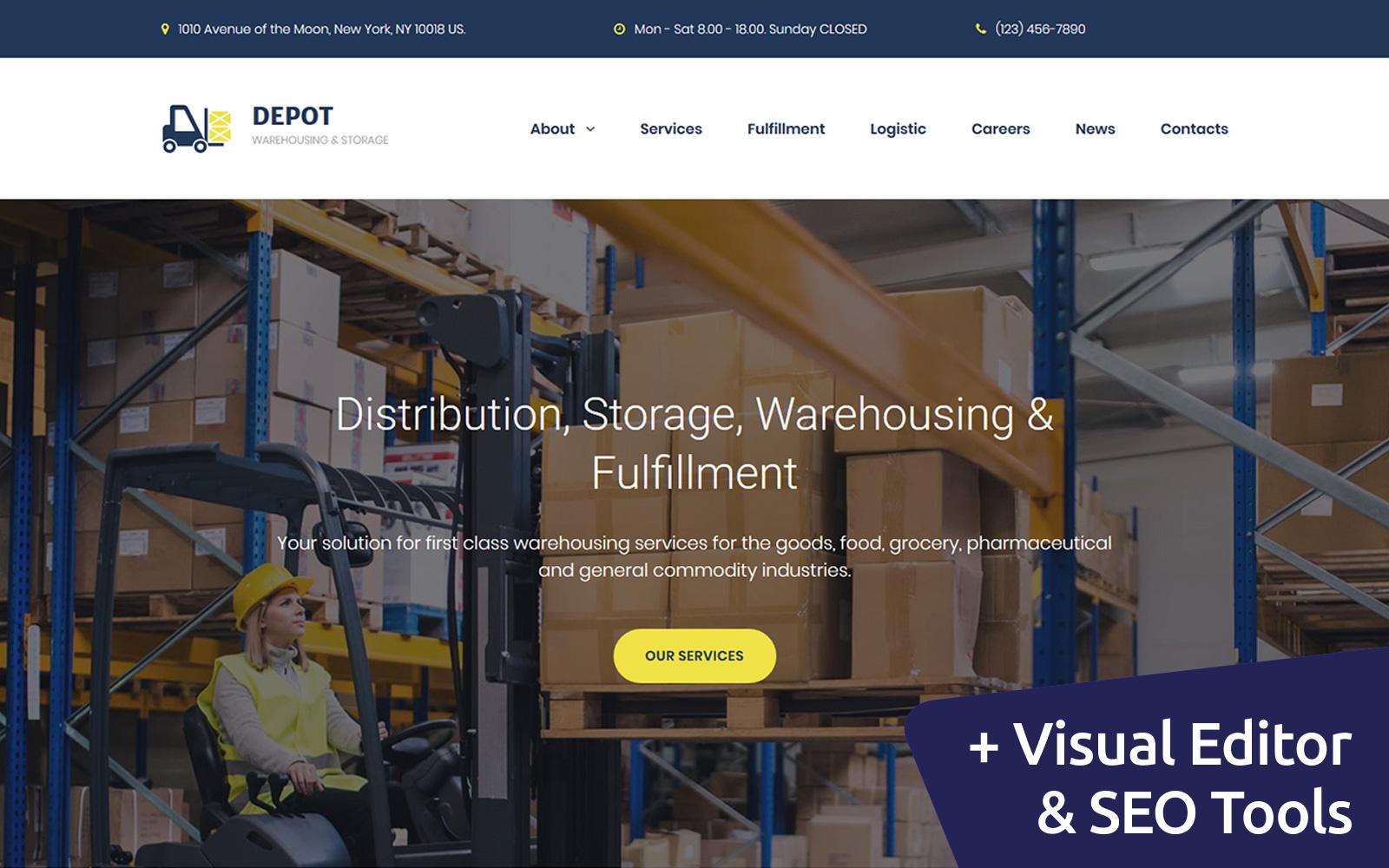 Depot - Warehouse Premium Moto CMS 3 Template