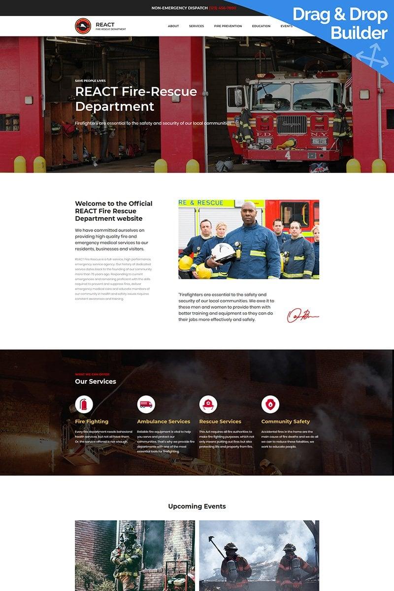 Fire Department Premium Templates Moto CMS 3 №68195 - captura de tela