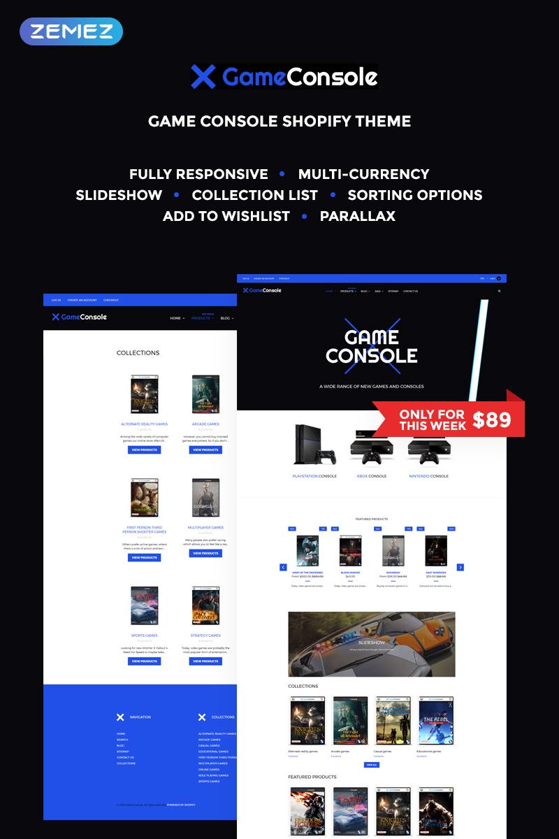 """Game Console - Bright Gaming"" - адаптивний Shopify шаблон №68118 - скріншот"