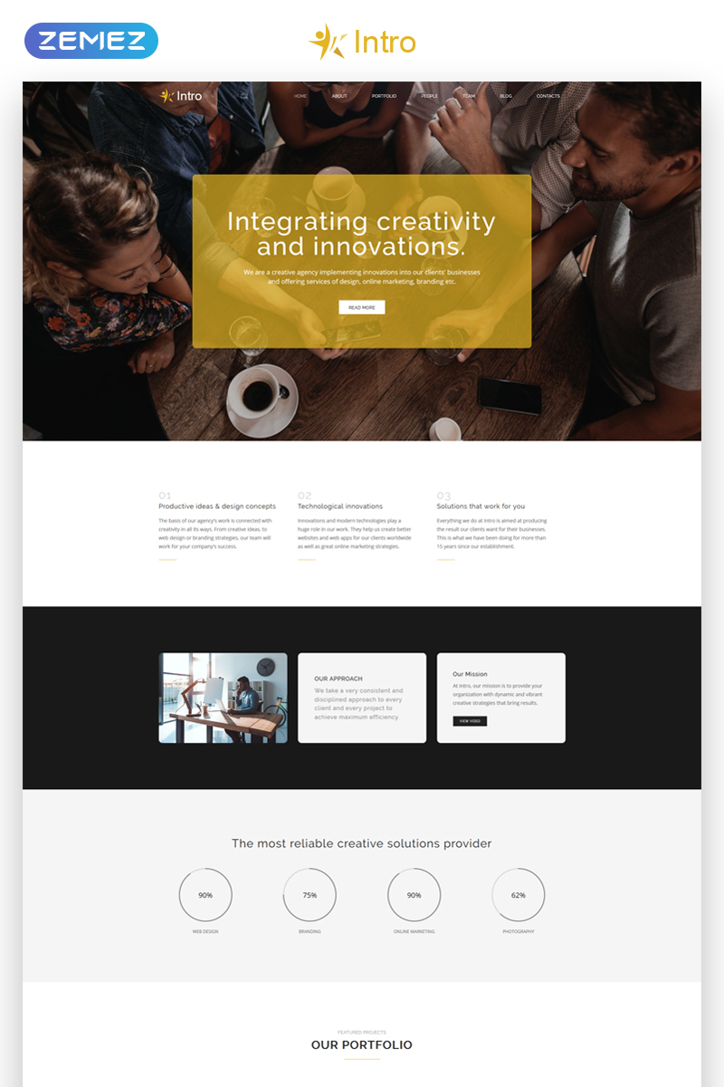Intro - Dynamite Digital Agency HTML5 Landing Page Template - screenshot
