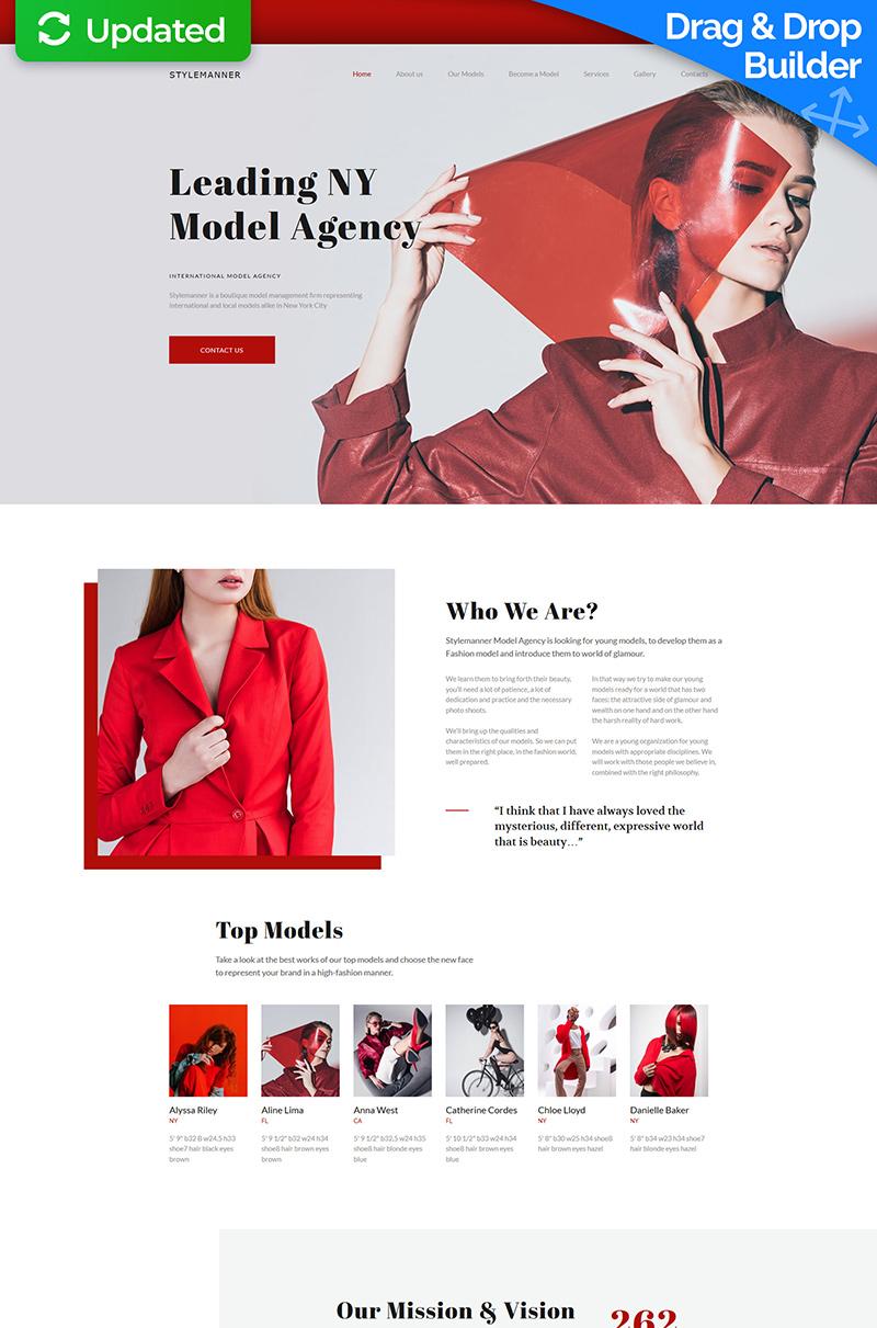 """Model Agency Premium"" - адаптивний MotoCMS 3 шаблон №68193"