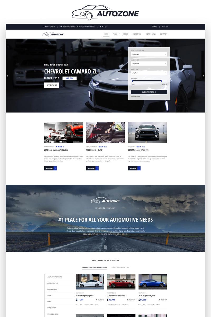 """Modello Siti Web Responsive #68156 """"Autozone - Auto Dealer Bootstrap HTML5"""""""