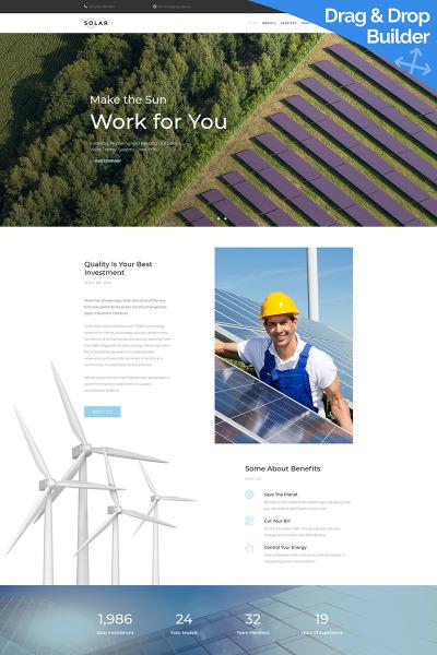 Responsive Plantilla Moto CMS 3  #68184 para Sitio de  para Sitio de Energía alternativa