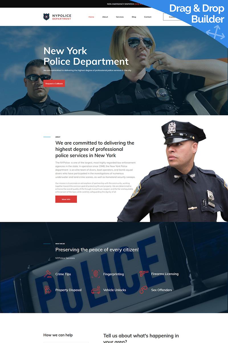 Responsywny szablon Moto CMS 3 Police Department Premium #68189