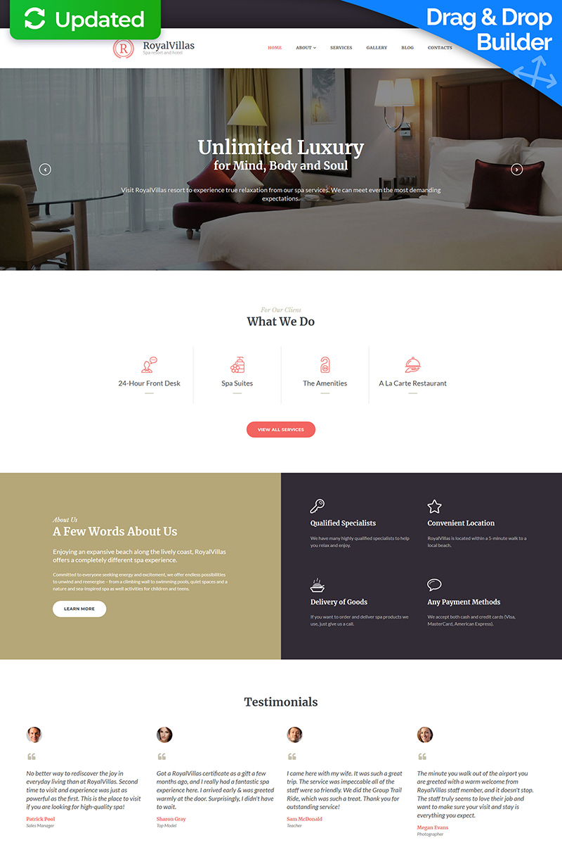 Royal Villas - Hotel Booking Moto CMS 3 Template - screenshot