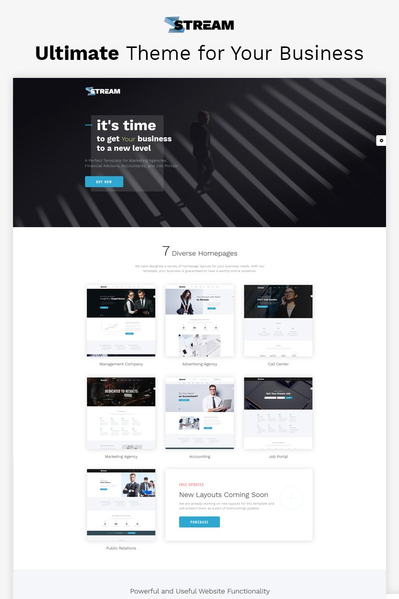 """""""Stream - Dynamic Financial Adviser Multipage HTML Template"""" Responsive Website template №68154"""