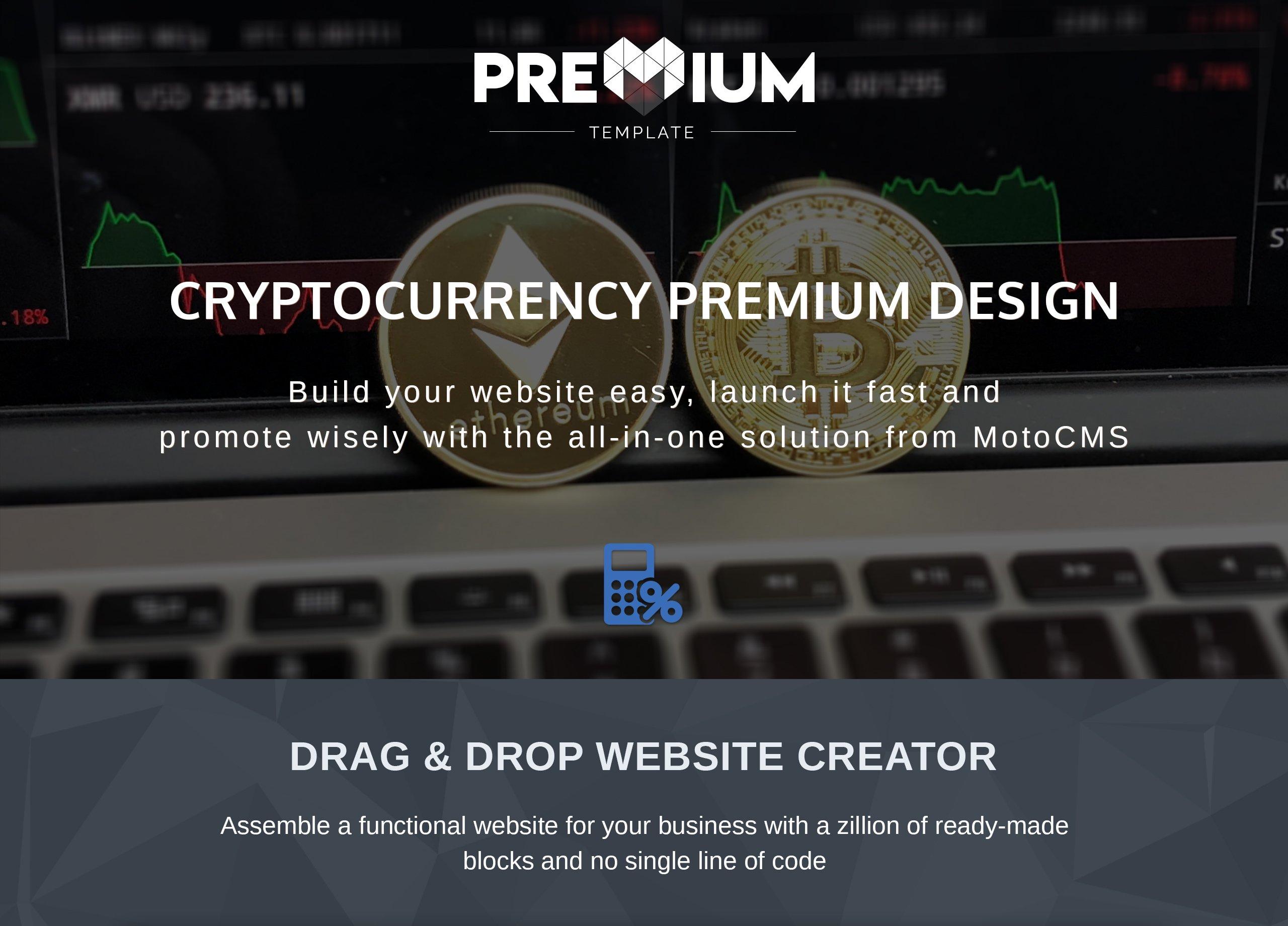 ICOdibs - Cryptocurrency Premium Moto CMS 3 Template