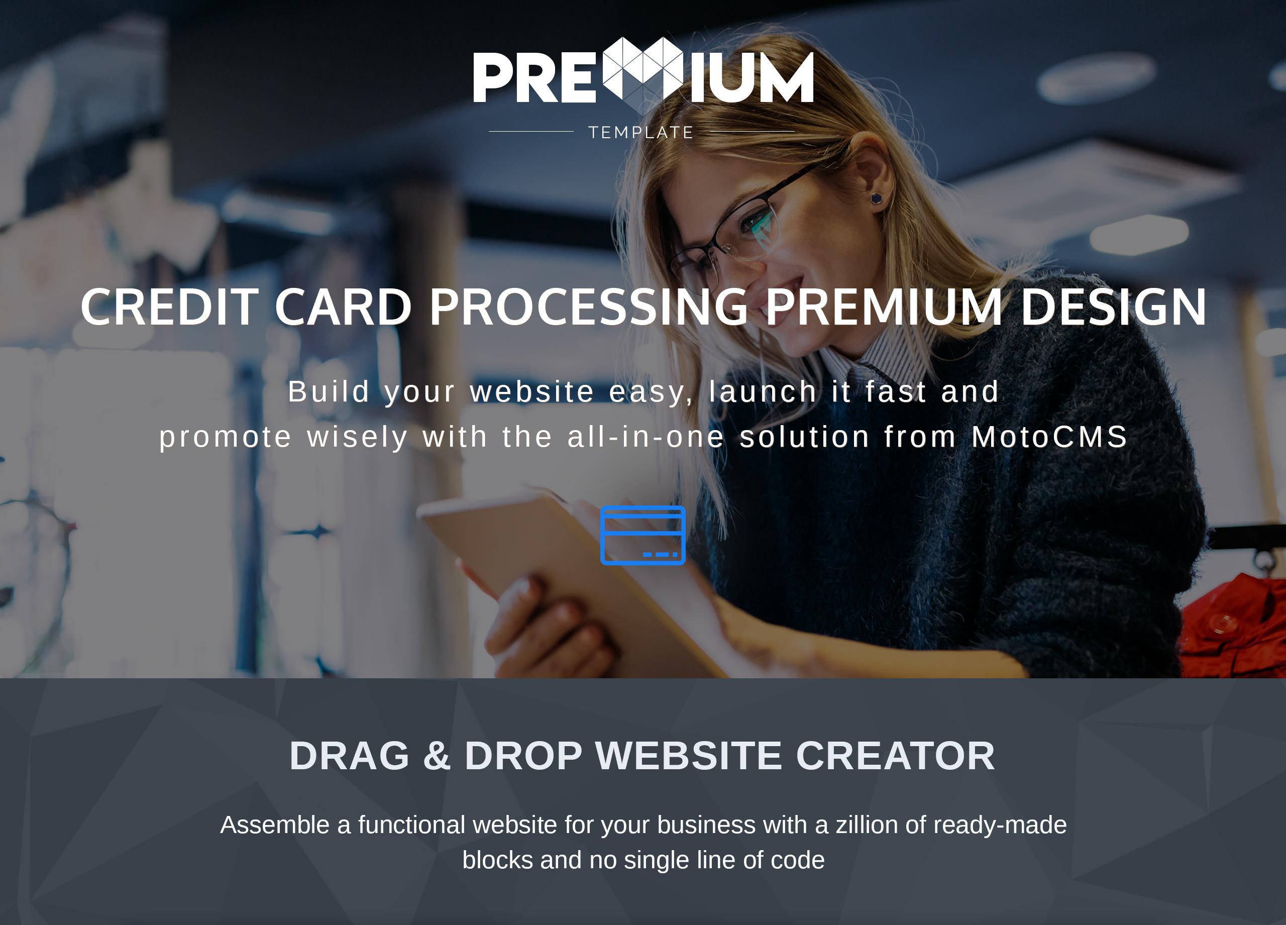 Billfold - Credit Card Processing Premium Moto CMS 3 Template