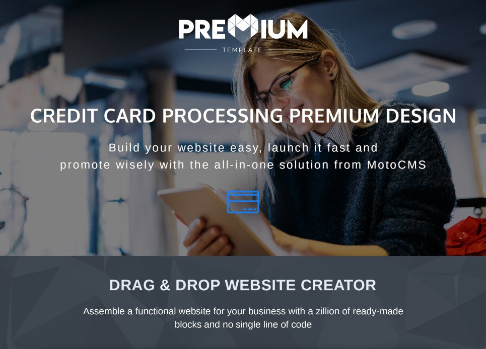 Credit Card Processing Website Template For Companies MotoCMS