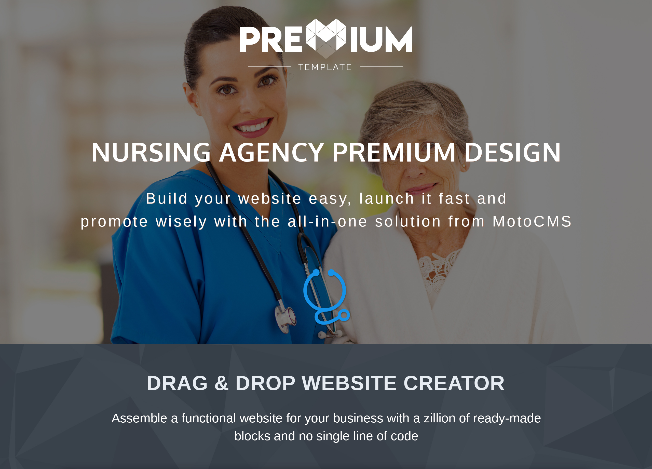 Nursing Agency Premium Moto CMS 3 Template