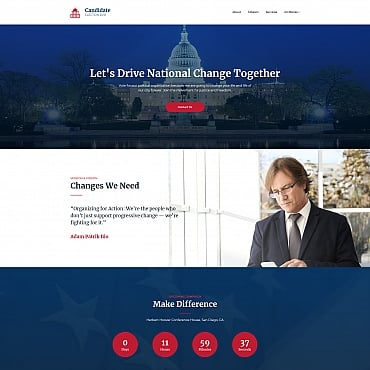 Preview image of Political Campaign MotoCMS 3