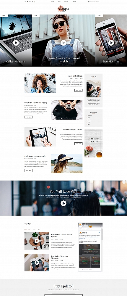 Personal Pages Landing Page Template | Website Templates