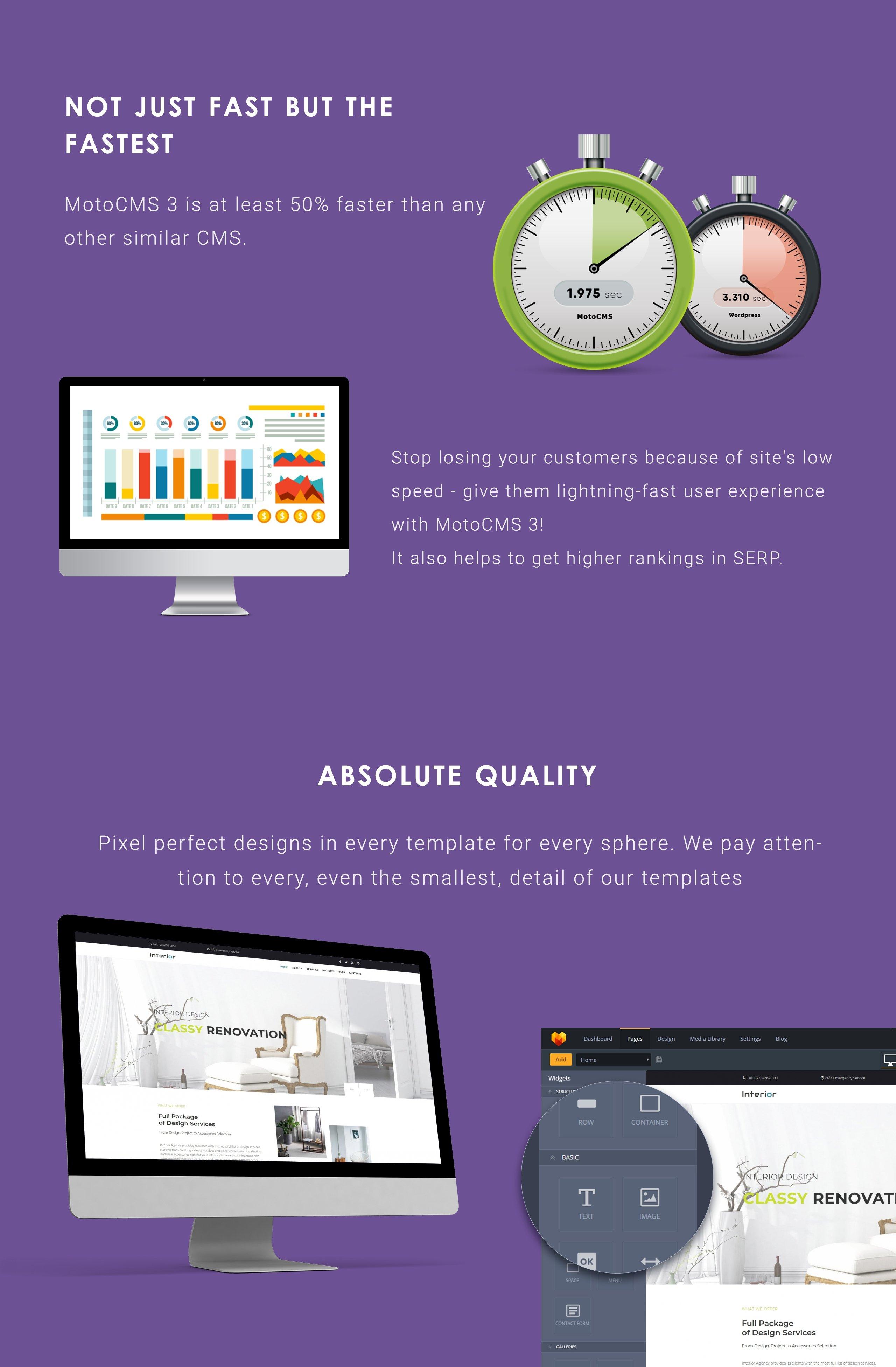 Interior Design Company Moto CMS 3 Template