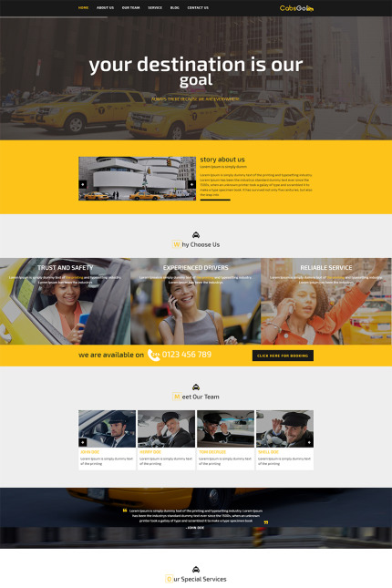 Website Design Template 68260 - cab car cars driver hire taxicab taxicompany booking service limousine transport