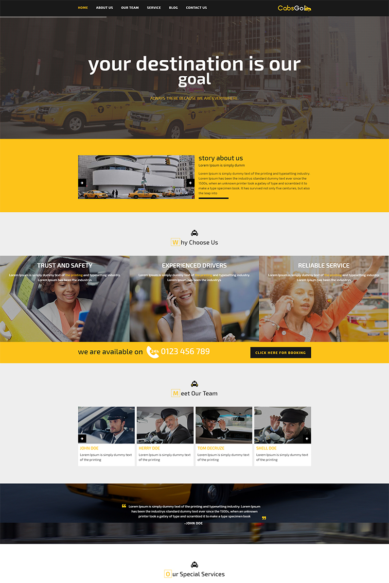 Website Design Template 68260 - rental cab car cars driver hire taxicab taxicompany booking service limousine transport