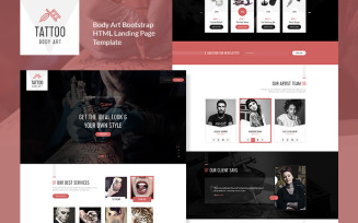 Tattoo Body Art Bootstrap Landing Page Template