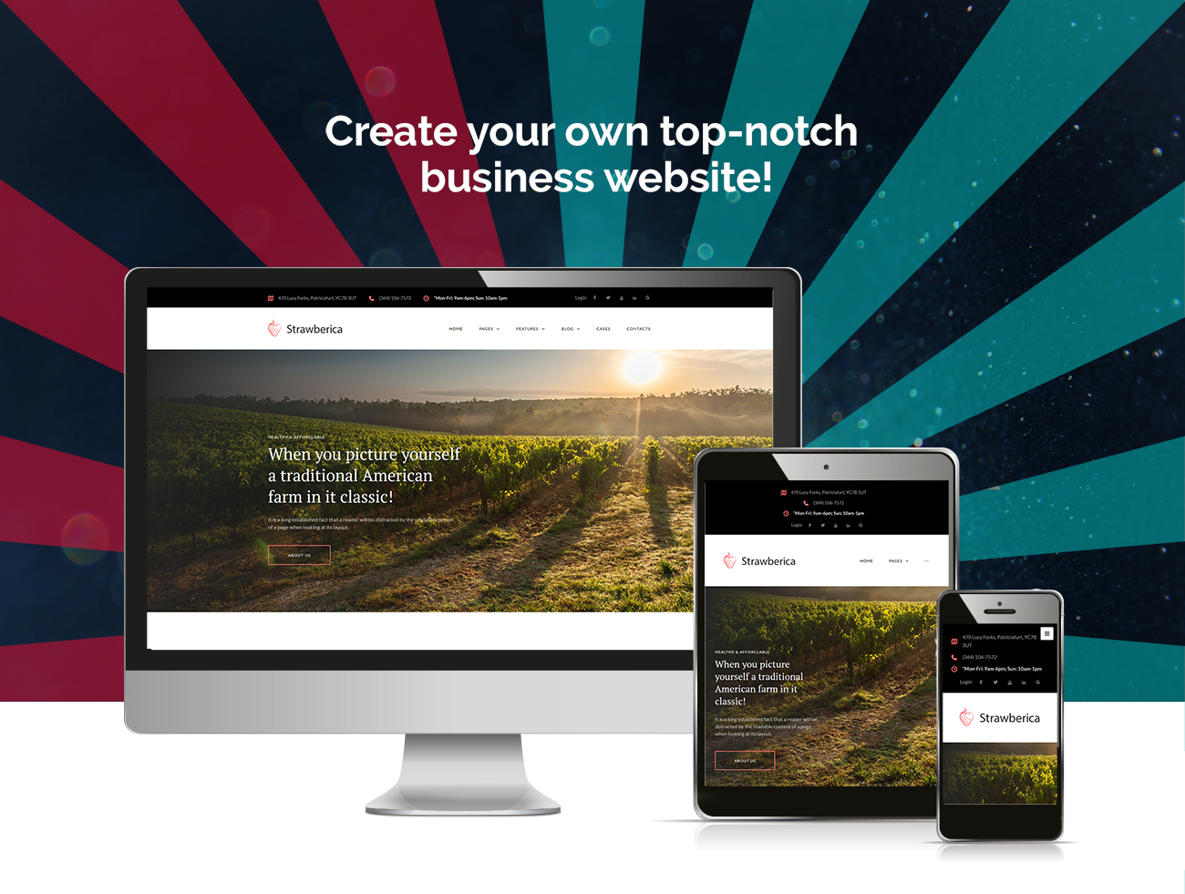 WordPress шаблон #68283 на тему фермы от TemplateMonster