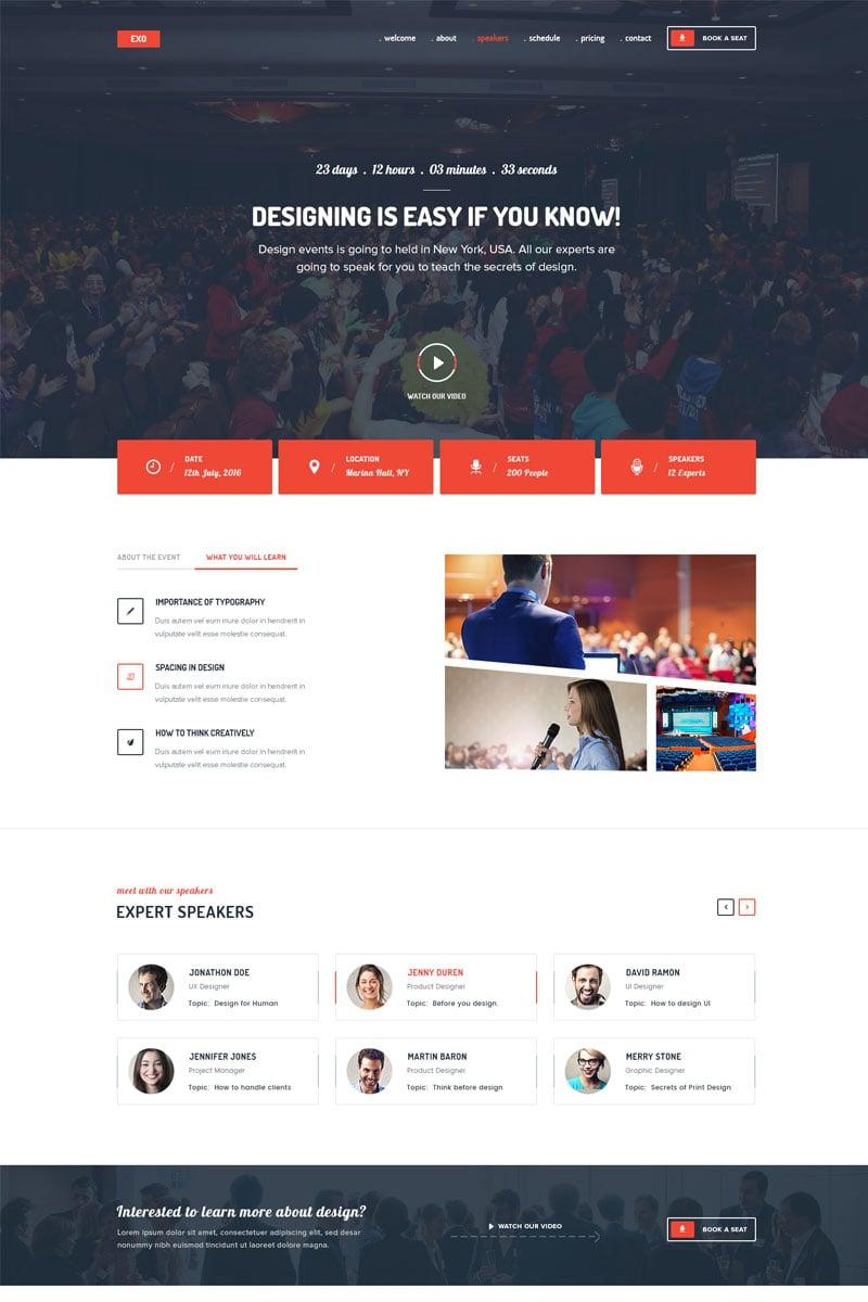 Website Template 68298 Event Management Conference Custom Website