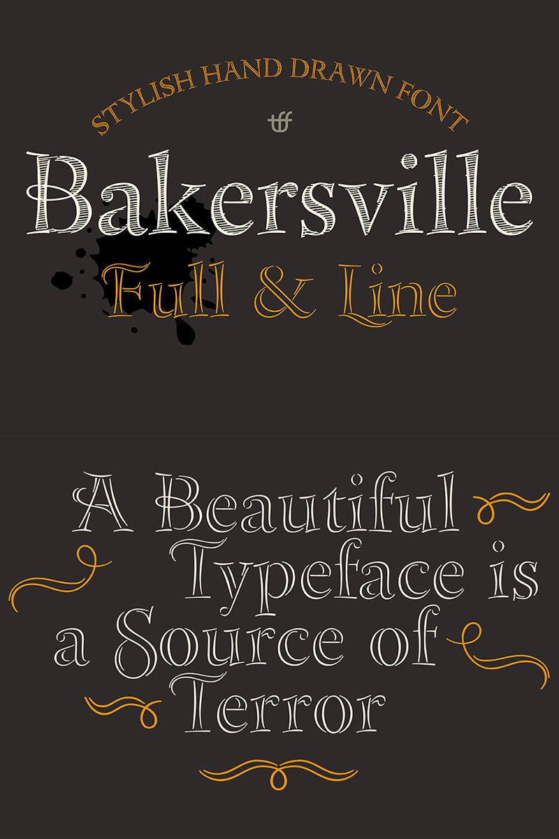 """Bakersville"" Lettertype №68277"