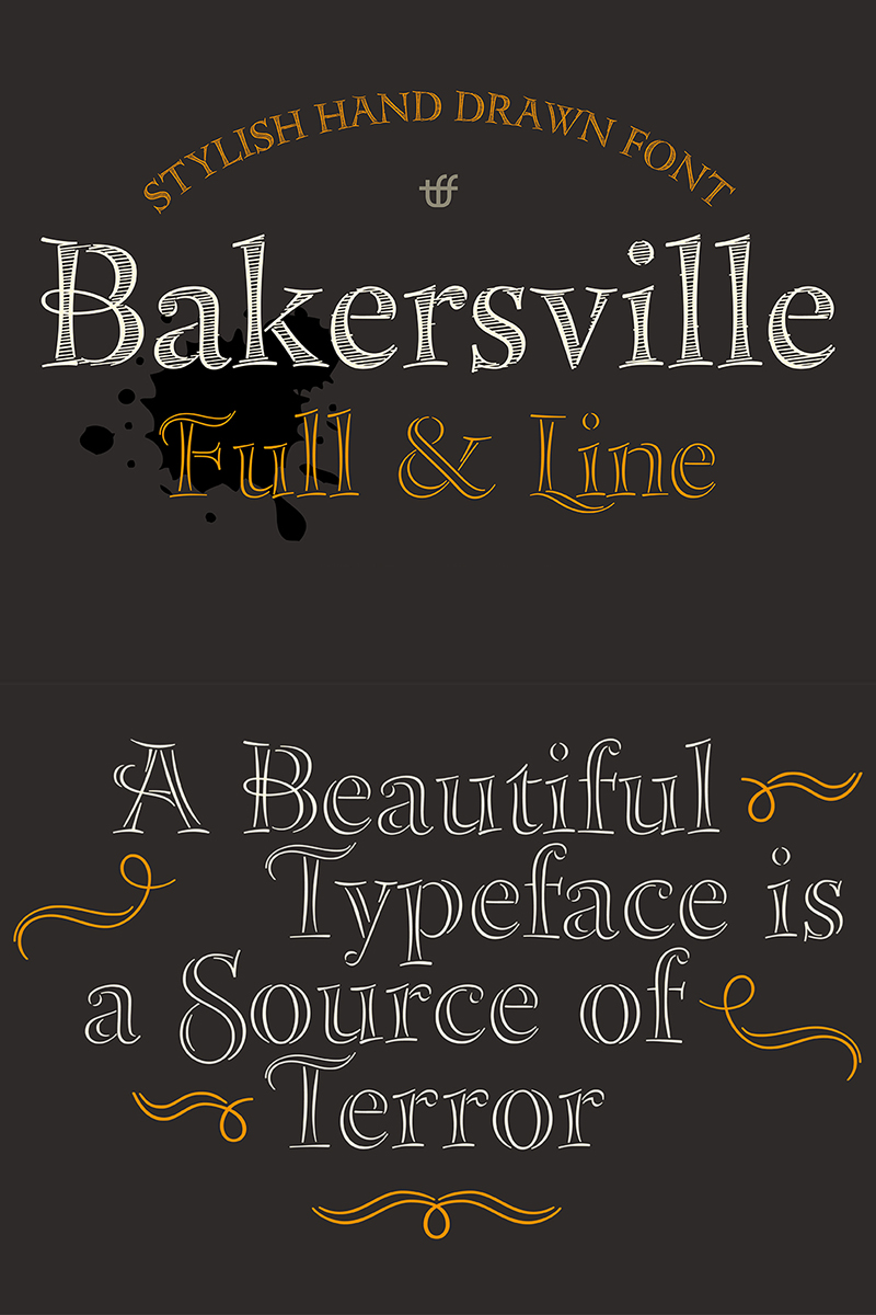 """Bakersville"" police de caractère  #68277"