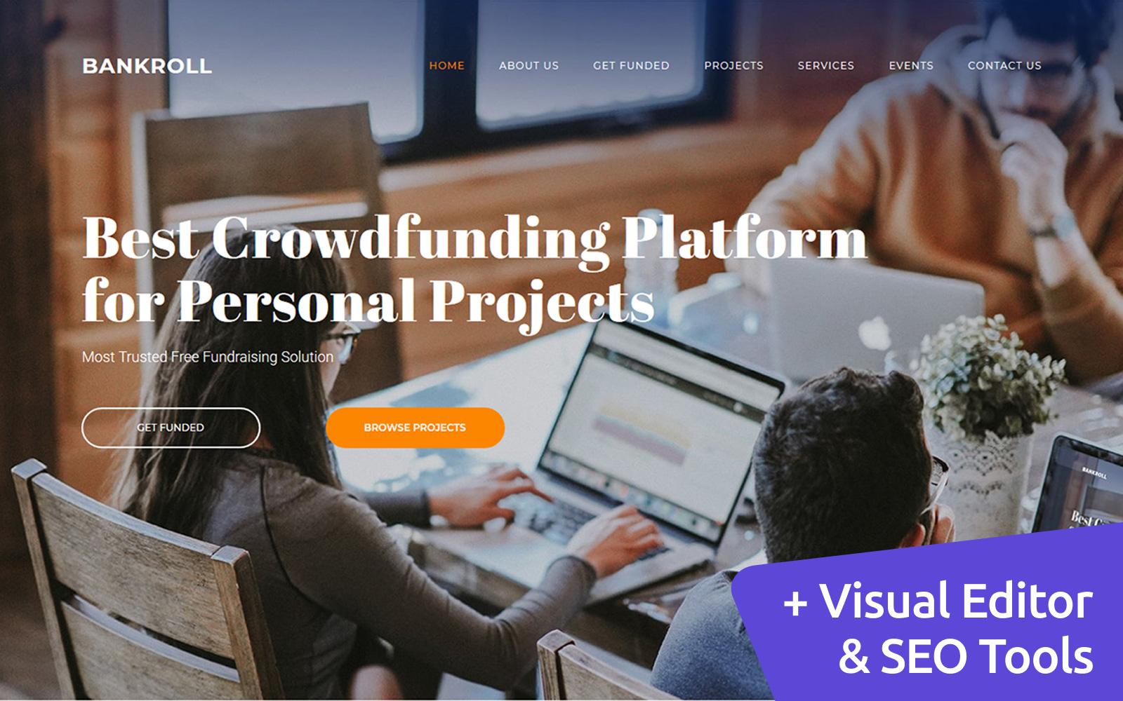Crowdfunding Platforms Premium Moto CMS 3 Template