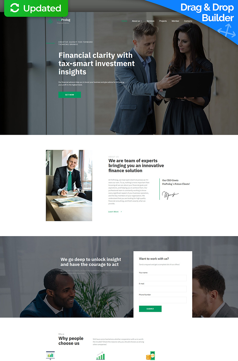 Financial Advisor Premium Moto CMS 3 Template