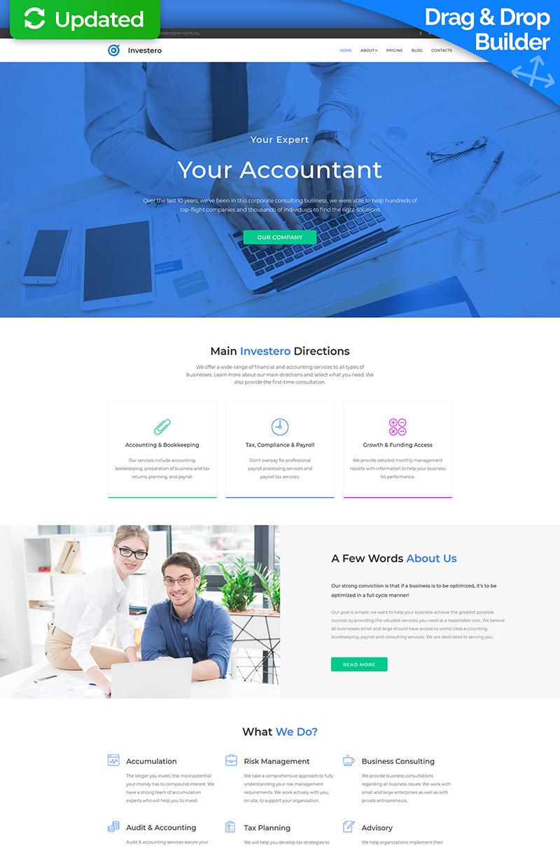 """Investero - Accountant Expert"" modèle Moto CMS 3 adaptatif #68243"