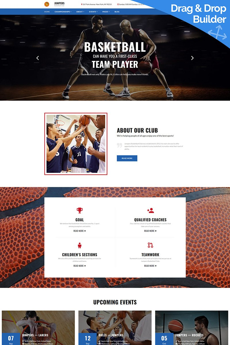 Jumpers - Basketball Club Moto CMS 3 Template
