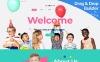 """Kiddaboo - Kid Parties Services"" modèle Moto CMS 3 adaptatif New Screenshots BIG"