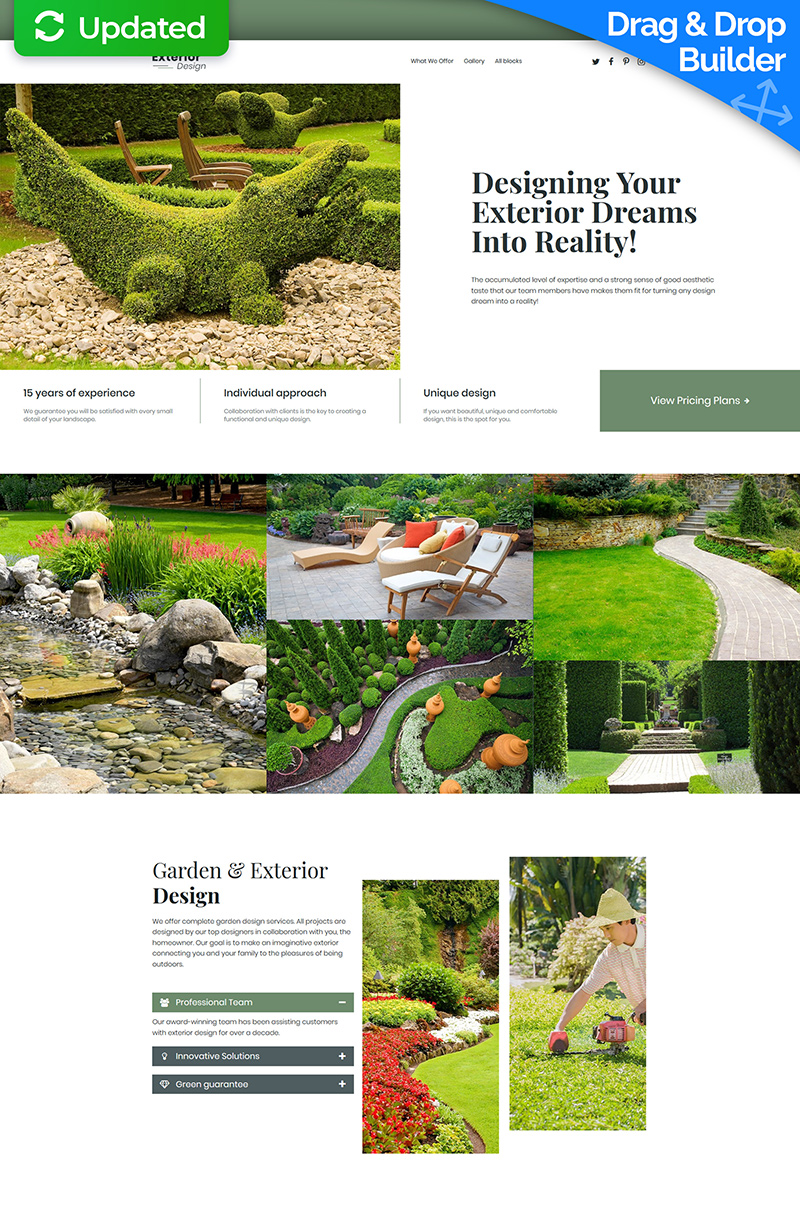 """Landscape Design MotoCMS 3"" Responsive Landingspagina Template №68226"