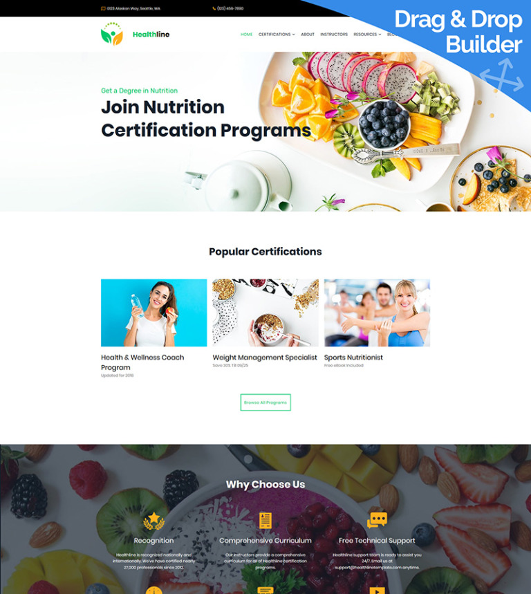 Nutrition Certification Programs Moto Cms 3 Template 68204