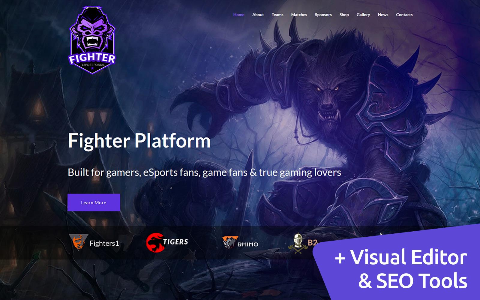 "Plantilla Moto CMS 3 ""Online Gaming Tournaments"" #68215"