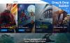 Plantilla Moto CMS 3  para Sitio de Cine New Screenshots BIG