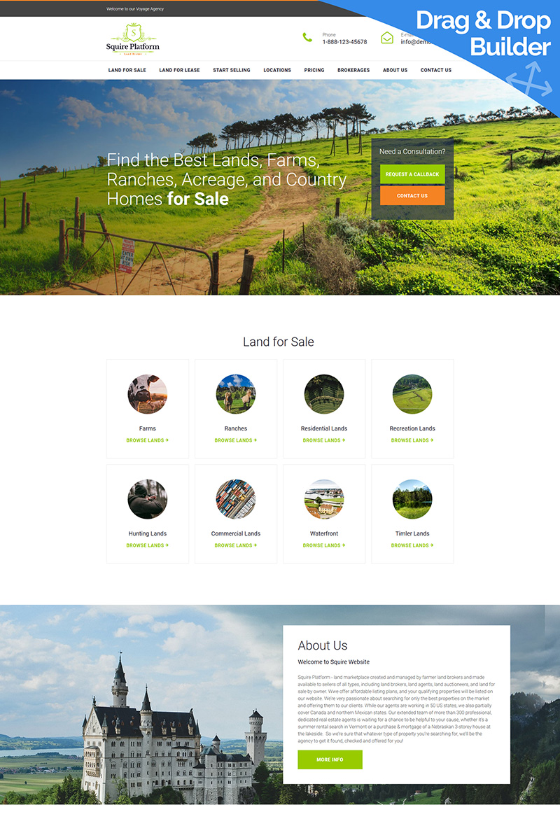 Real Estate Broker Premium Moto CMS 3 Template